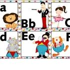 Word wall letters for your circus-themed classroom.  These letters are 6 to a page....