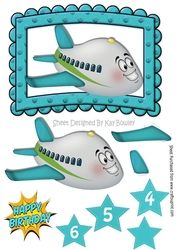 Lovely Toony Aeroplane in turq on Craftsuprint - View Now!