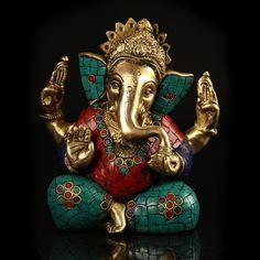 Brass & Mosaic Ganesha   http://www.indiancraftsmen.com/home-decor/brass-amp-mosaic/brass-and-mosaic-ganesha