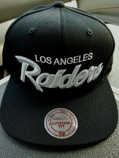 2449f604c6c06 Los Angeles Raiders Football Snapback Mitchell   Ness Vintage Look Hat Cap  NEW