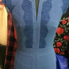 Lace Dress, Dress Up, Sculptural Fashion, Fashion Details, Pretty Outfits, Blue Dresses, Designer Dresses, Clothes For Women, Womens Fashion