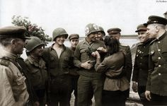 Soviet and American soldiers - Elbe 1945 69th Infantry Division