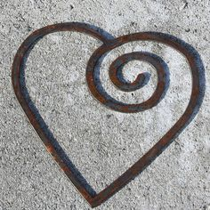 Swirl Steel Heart Recycled Metal custom heart Iron by fttdesign