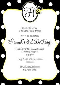 Bumble Bee Invitation