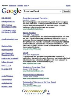 Creative Resume Design – Google Theme