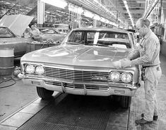 Vintage Trucks (ca. - The General Motors Assembly Plant in Van Nuys, California, circa Classic Chevy Trucks, Classic Cars, Classic Chevrolet, 66 Impala, Volkswagen, Automobile, Assembly Line, San Fernando Valley, Van Nuys