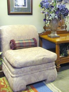 Slipper Chair, Purple Tint $109.00 each. - Consign It! Consignment Furniture
