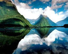 "New Zealand♡ ...""it was so clear. jenny, it looked like there were two skies one on top of the other"" (f.gump)"