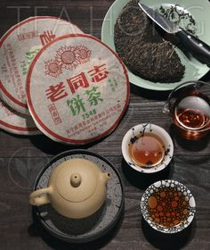 Formula 7548 Sheng Pu'er tea, aged since 2007 Tea Varieties, Tea Brands, Tasting Room, Tea Tree, Tableware, Recipes, Dinnerware, Tablewares