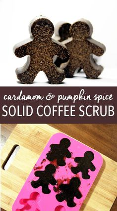 DIY Pumpkin Spice Coffee Scrub Recipe for DIY Holiday Gifts! This DIY cardamom and pumpkin spice solid coffee scrub recipe makes great handmade holiday gifts for the Christmas Season. Crafted with real pumpkin spice coffee, exfoliating pink salt and sugar Diy Holiday Gifts, Handmade Christmas Gifts, Christmas Diy, Diy Gifts, Christmas Goodies, Handmade Crafts, Craft Gifts, Christmas Gingerbread, Homemade Christmas