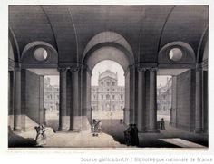Vestibule du Vieux Louvre  Charles Norry, c. 1770