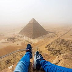 A different perspective of the great pyramid of Giza, Egypt. 😎😃😉 🔹 Photo credits: @andrejcie 🔹 Tag #worldtravelbook 🌍 to be featured. 🔹 Follow my personal account: @sharqawii 👈🙃