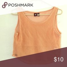 mesh cropped tank like new mesh cropped tank with underlining under the boobs Tops Tank Tops