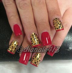 Red, gold, & leopard print. <3