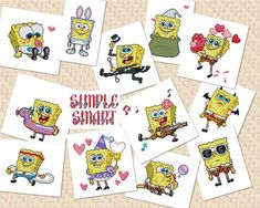 SpongeBob SquarePants Cross Stitch Pattern by SimpleSmart on Etsy