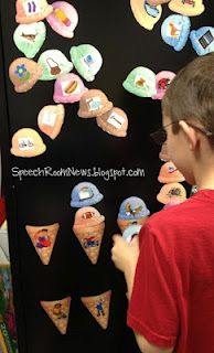 Pronoun Ice Cream Cones-cute way to work on pronouns, possesive and subjective from Speech Room News. Pinned by SOS Inc. Resources. Follow all our boards at http://pinterest.com/sostherapy for therapy resources.