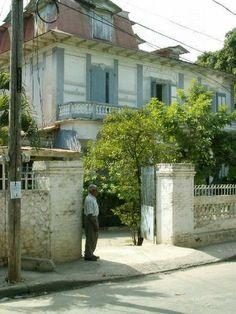Port Au Prince houses. HAITI