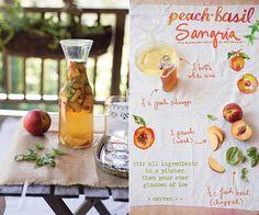 Peach Basil Sangria - The Forest Feast