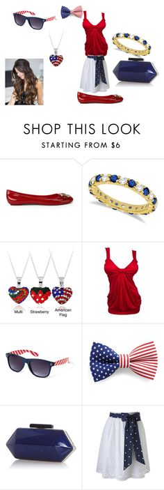 """4th of july"" by born2shine ❤ liked on Polyvore featuring Love Moschino, Allurez, Icz Stonez, Forever 21 and Warehouse"