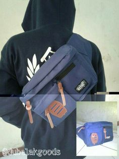 Waist bag neverends two slot full dark blue   IDR 80K