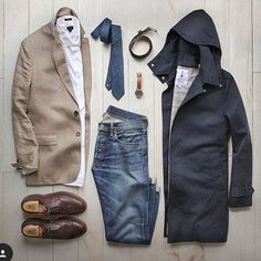Outfit grid - Rainy day