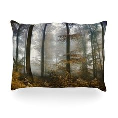 "Iris Lehnhardt ""Forest Mystics"" Brown Gray Outdoor Throw Pillow"