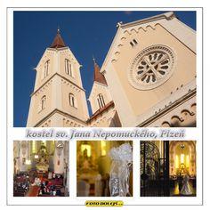 Kostel sv. Jana Nepomuckého v Plzni.