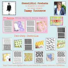 StencilGirl Talk: The Basics and Two Step Stencils by New Designer Tammy Tutterow