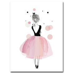Watercolor Pink Ballet Fairy Girl Nursery Canvas Art Wall Home Decor – TipTopHomeDecor Nursery Canvas Art, Canvas Art Prints, Canvas Wall Art, Poster Mural, Canvas Poster, Ballet Illustration, Diy Girlande, Kids Wall Decor, Custom Art