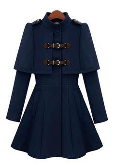 Navy Buckle Coat