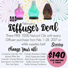 Where my Essential Oil peeps at?! 👀🙋🏻  Our gorgeous AND amazing Diffusers are 10% OFF!!! 🙌🏼😆 And if that's not awesome enough, Scentsy is throwing in 3 FREE 100% NATURAL OILS with your purchase! 🙀   Check out These SPECS 👀 - LIFETIME warranty  - Auto-off reservoir - Cold mist technology - 16 different LED settings - INTERCHANGEABLE SHADES - Did I mention LIFETIME WARRANTY!? 👊🏼  You will LOVE it, I cannot live without mine!!! #GoodnightMama 💆🏻🌾