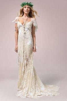 Boho Wedding Dress - Rue De Seine Elena Gown