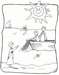 Jesus Chooses His Disciples Bible Key Point Coloring Page