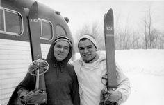 Gunks Vulgarian Pictures: Al Demaria & Roman 1st ski trip Belleayre 1956