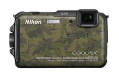 Nikon COOLPIX AW110 16 MP Waterproof Digital Camera with Built-In Wi-Fi (Camouflage): Camera & Photo