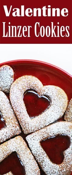 Layered Linzer Cookies! With ground almonds and raspberry jam. A perfect treat for Valentine's Day!