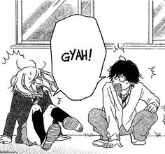 I love how in one picture in the manga they can look so cute and then there's these, I LOVE THEM(ao Haru ride-blue spring ride) Futaba Yoshioka, Futaba Y Kou, Ao Haru Ride Anime, Manga Anime, Best Shoujo Manga, Blue Springs Ride, My Little Monster, Romantic Manga, Familia Anime