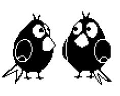 Two birds  Cross Stitch Hand Embroidery Pattern  by ElfinTales