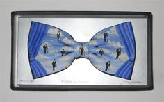 Hand painted bowtie after Magritte by artist John Kirwan - The Keeling Gallery Magritte, Bow Ties, Bows, Hand Painted, Paintings, Gallery, Artist, Arches, Bowties