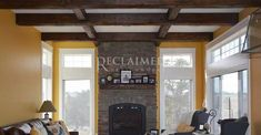 Pops of Color Hand Hewn Beams, Barn Siding, Old Factory, Old Building, Reclaimed Barn Wood, Fireplace Mantels, Repurposed, Color Pop, Windows