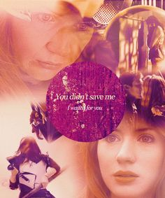 Amy Pond. The girl who waited. I waited for you and you didn't save me. <- oh ... :'( This episode makes me cry... :'(  How it must have hurt :'(