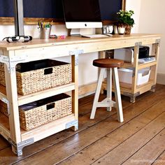 #Build your own industrial-style #desk with plans from Jaime Costiglio from @thatsmyletter