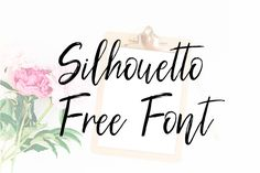DLOLLEYS HELP: Silhouetto Script Free Font