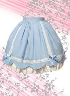 Special and Beautiful Blue Multilayer Cotton Lolita Skirt, ocrun.com