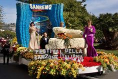 Italy -Festival of Italian Song-  Charriot of flowers