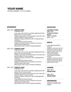 conservative professional resume design word template original resume design