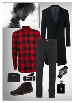 """""""Untitled #1"""" by aceboss ❤ liked on Polyvore featuring Curieux, Dsquared2, Josef Seibel, Simonnot Godard, Cartier, Carhartt, Ralph Lauren, Yves Saint Laurent, men's fashion and menswear"""