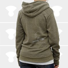 Women Hoodie - Fly Fishing - Zip Up Hoodie Sweatshirt - Available Sizes: X-Small, Small, or Medium. $46,00, via Etsy.