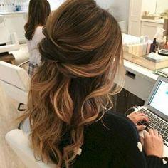 Stunning half up half down wedding hairstyles ideas no 41