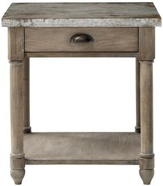 distressed in washed oak - goes well with distressed farm house table, not matchy though (whitman) Farmhouse Table, Decor, Living Room Table, Table, End Tables, Furniture, Home Decorators Collection, Living Room Redo, Living Room Furniture